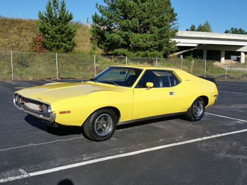 Dream Cars of the Carolinas Yellow Javelin Car